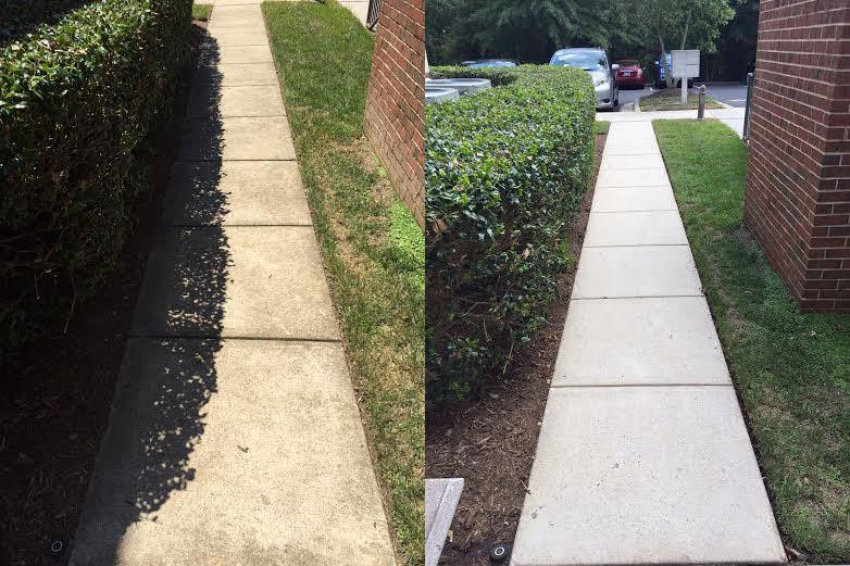 Raleigh concrete pressure washing