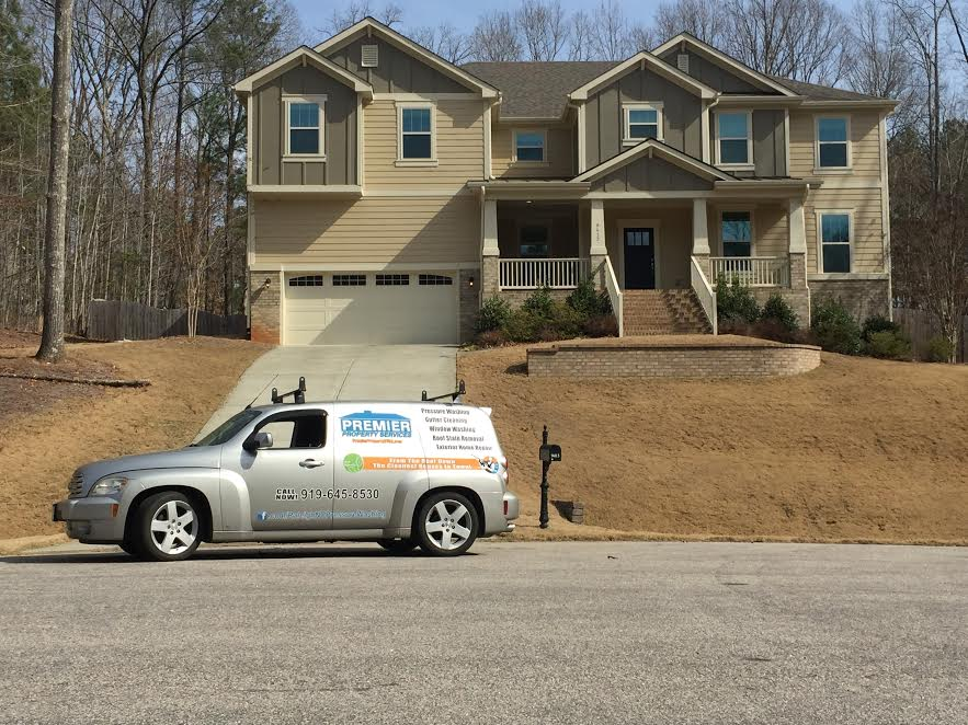 An estimator at one of our Pressure washing projects in Raleigh